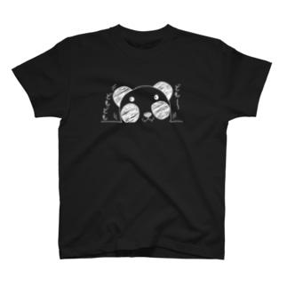 """ズレぱんだちゃんの""""ども~どもども""""Tシャツ白ライン T-Shirt"""