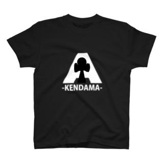 Aけん玉黒 T-shirts