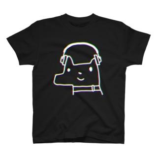 うつぼどっぐ(ヘッドホン)(色相ブレ効果) T-shirts