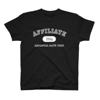 アフィリエイト(白) T-shirts