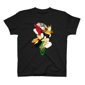フォーリング寿司(濃色用) T-Shirt