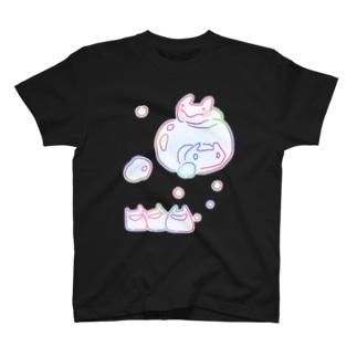 しゃぼんうさぎ 濃いめ色付き T-shirts