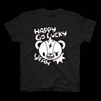 bAbycAt イラストレーションのSpunky Bear Tシャツ