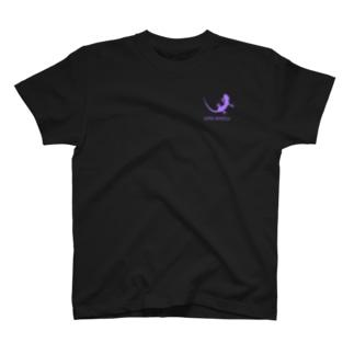 ヤモリ シルエット ロゴ ( ライトパープル ) T-Shirt