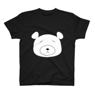 脱力しろくまさん(アホ毛付き) Tシャツ