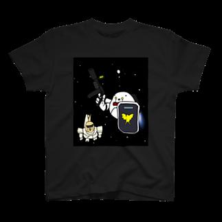 シマエナガの「ナガオくん」公式グッズ販売ページの宇宙世紀ナガオくん Tシャツ