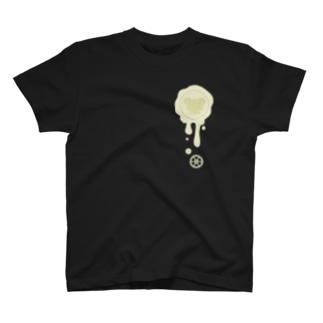 チョコ好きさんへ♪【ホワイトチョコ】healing-honey蝋封風ロゴモチーフ T-shirts