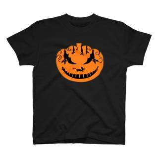 トマトカゲのトリックパンプキン T-shirts