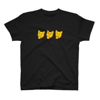 トマトカゲの考えるネコフェイスマーク T-shirts