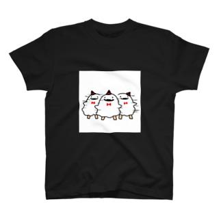 反復横跳びなオバケ T-shirts