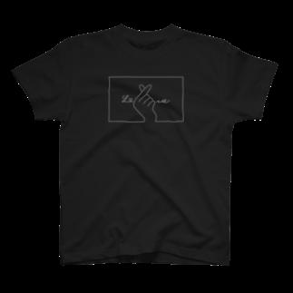 SIRO%(しろぱーせんと)の指ハート(White) T-shirts