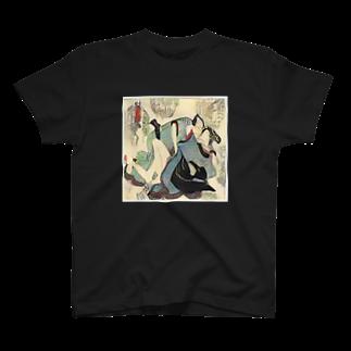 👻AI Creator👻のAI春画tee -青い浮遊- T-shirts