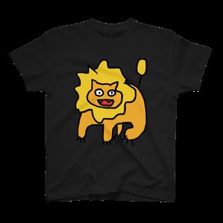 きつねこプロジェクトのらいおん透明 T-shirts