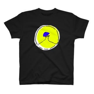 まるのなかのひと【黒T】 T-shirts