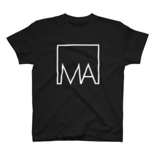 デカプリントロゴ collar.1 T-shirts