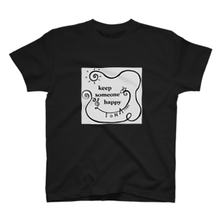 TONA1045のkeep someone happy T-shirts