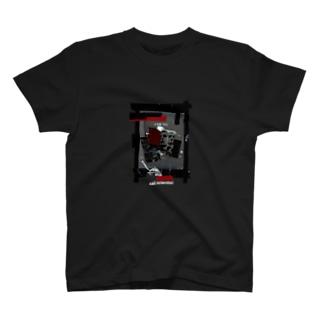 """sad scientist """"Serial"""" T 黒、濃色専用 T-shirts"""