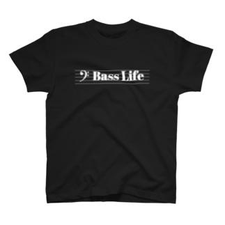 Bass Life(白文字) Tシャツ