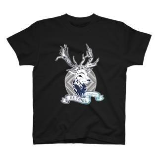 にしのひつじかいのキラキラの鹿 T-shirts