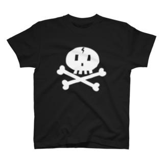 白ドクロ T-shirts
