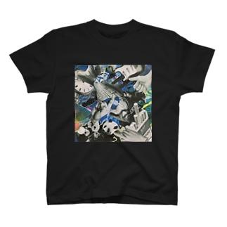 青いにぎやか T-shirts