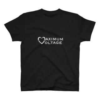 マキシマム ボルテージ 白文字 T-shirts