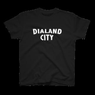 DIALAND LOVERSのDIALAND CITY WHITE T-shirts