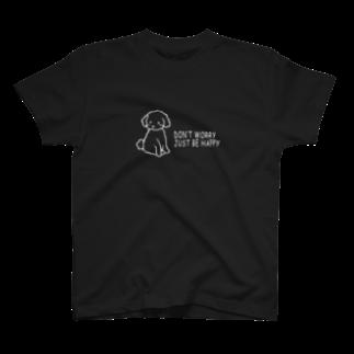 CastleGateのトイプードル(白線) T-shirts
