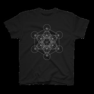 metao dzn【メタをデザイン】のメタトロンキューブ T-shirts
