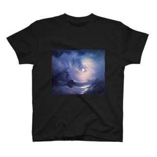 Stormy sea @ night T-shirts