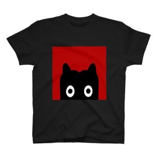 【 黒鬼: Black demon 】のぞき見 Tシャツ