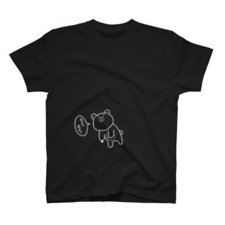 くーまTシャツ【ブラックタピオカ編(白)】 T-shirts