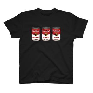 ネコ缶トリプル Tシャツ