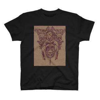 スカルマリアTシャツ T-shirts