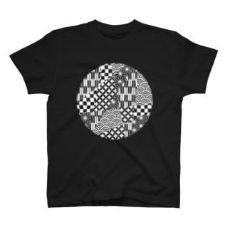 丸和柄(月) T-shirts