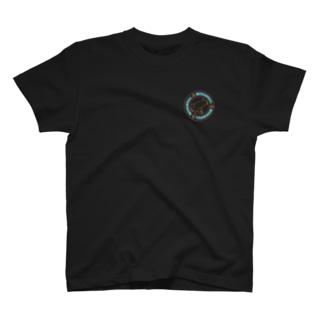 中華風ネオンのトイレ中柴犬 T-shirts
