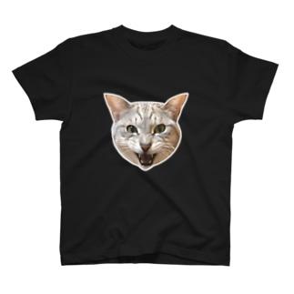 何かを必死で訴えてる、インテリな弟猫しんば  T-shirts
