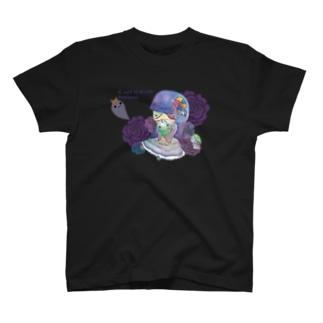 【#yamikawaii系女子】紫ちゃん(仮) T-shirts