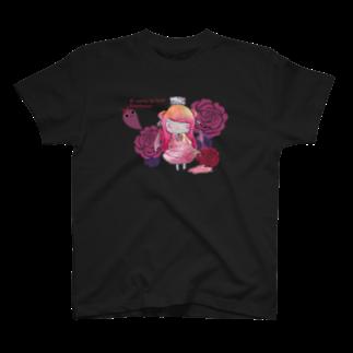 happy lifeの【yamikawaii系女子】ピンクちゃん(仮) T-shirts