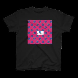 【Brue Rose】errieのBrue Rose ビビッドピンク  T-shirts