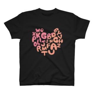 ALPHABET LOVE T T-shirts