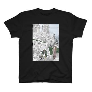 セーヌ川沿いの露店のおやじ T-shirts