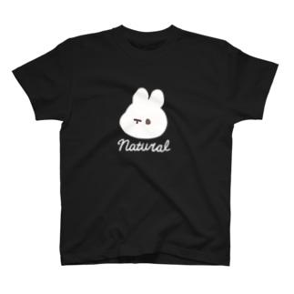 ナチュラルうさぎ T-shirts