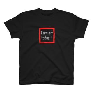 休みです(白文字) T-shirts