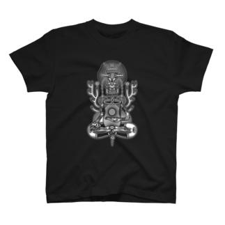 仏陀 白 T-shirts