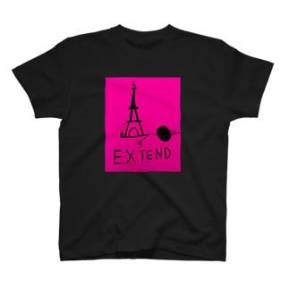EXTEND ピンク T-shirts