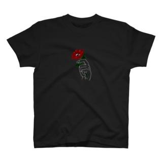 アネモネ赤ー濃色ベース用ー T-shirts