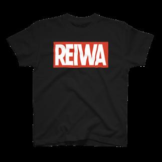 ふわふわワンダーランドの令和(REIWA) MARVEL風ボックスロゴ T-shirts