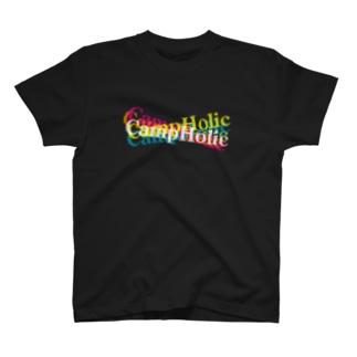 キャンプ中毒 T-shirts
