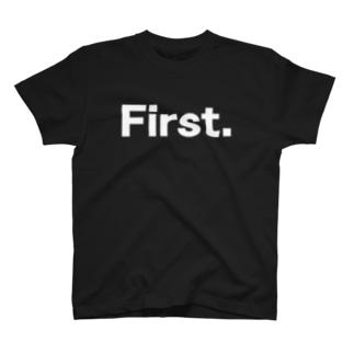 キッズ: 兄弟ナンバリング「1」白プリント T-shirts